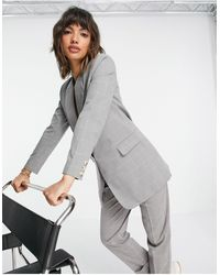 Y.A.S Longline Tailored Blazer - Gray