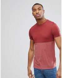 e1533ae6fc809 ASOS - T-shirt avec empiècement contrastant color block - Lyst