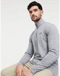 Calvin Klein Top con media cremallera en gris Newport - Metálico