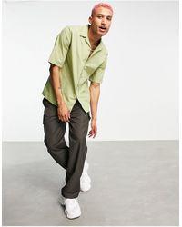 Ban.do Rudie Oversized Short Sleeve Revere Collar Shirt - Green