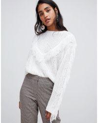 Vila - Tassel Details Knit Sweater - Lyst