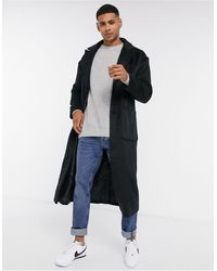 Another Influence Wool Blend Over Coat Longline - Black