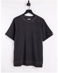 Only & Sons Sweat-shirt classique en coton biologique à manches courtes (pièce d'ensemble) - Noir