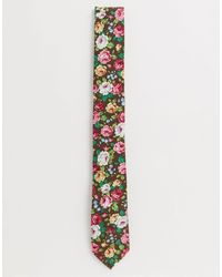 Ben Sherman Набор Из Галстука И Булавки На Лацкан Пиджака С Цветком -розовый Цвет
