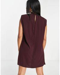 AX Paris T-shirt à épaulettes - Prune - Violet