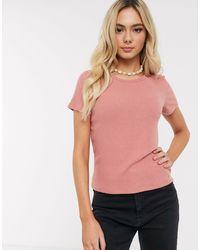 Hollister Cozy Rib Crew Neck T-shirt-pink