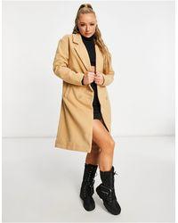 Threadbare Бежевое Пальто -коричневый Цвет - Многоцветный