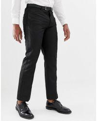 Bellfield - Trouser With Contrast Trim In Black - Lyst