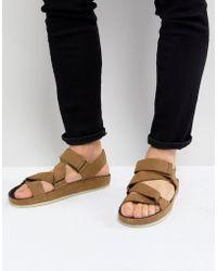 Clarks - Ranger Nubuck Sandals In Tan - Lyst