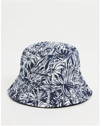 French Connection Leaf 2 Bucket Hat - Blue