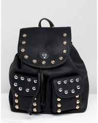 Park Lane Western Studded Backpack - Black
