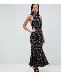 da8cfc37bb79 Jarlo - High Neck Allover Cutwork Lace Midaxi Dress In Black - Lyst