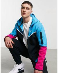 Nike Tech Fleece Full-zip Color Block Hoodie - Black