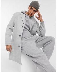 Bershka Серое Трикотажное Пальто -серый