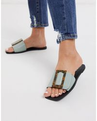 PrettyLittleThing Square Toe Sandal With Buckle - Multicolour