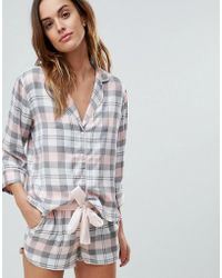 ASOS DESIGN - Mix & Match Check Pyjama Shirt - Lyst