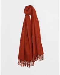 Pieces Oversized Soft Scarf - Red