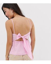 New Look High Neck Cami In Bright Pink