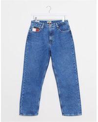 Tommy Hilfiger Jeans Met Hoge Taille En Rechte Pijpen Blauwe