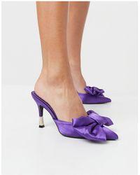 Public Desire Фиолетовые Мюли С Бантами -фиолетовый Цвет - Пурпурный