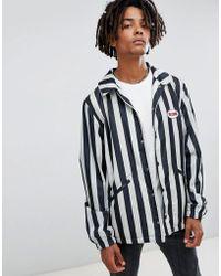 Volcom - Brews Striped Coach Jacket In White - Lyst