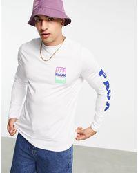 Friend or Faux Electrostatic Longsleeve T-shirt - White