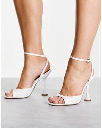 TOPSHOP Chaussures à talon fin - Noir - Blanc
