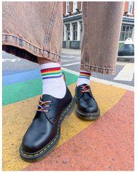Dr. Martens Черные Ботинки С Радужной Отделкой Pride 1461-многоцветный - Синий