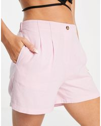 Vero Moda High Waisted Tailored Shorts Co-ord - Pink