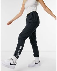 Columbia Logo French Terry joggers - Black