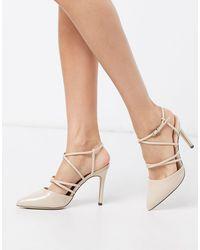 Call It Spring Babina - Chaussures à talons hauts et brides croisées - Beige - Neutre