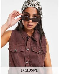Native Youth Relaxed Fit Denim Waistcoat - Brown