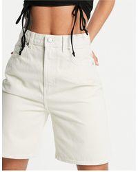 Weekday Dandy Organic Cotton Denim Mom Shorts - Multicolour