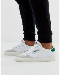 adidas Originals Continental 80 Vulc - Sneakers Van Leer Met Groen Lusje - Wit