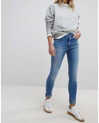 Pepe Jeans - Regent High Waist Skinny Jean - Lyst
