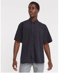 Weekday Airone - Overhemd - Zwart