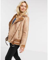 Pieces Светло-коричневая Куртка Авиатор -светло-коричневый - Многоцветный