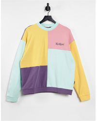 Kickers Relaxed Sweatshirt With Embroidered Logo - Purple