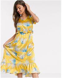 Liquorish Midi Dress - Yellow