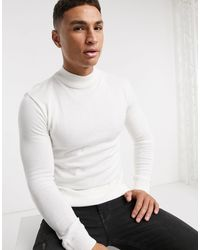 River Island Long Sleeved Turtle Neck - White