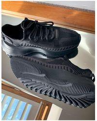 Bershka Черные Трикотажные Кроссовки -черный