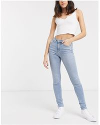 Weekday - Thursday - Jeans slim a vita alta - Lyst