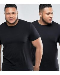 ASOS | Plus Muscle Fit T-shirt 2 Pack Save | Lyst