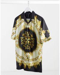 Good For Nothing Chemise manches courtes avec col à revers et motif géométrique baroque - Multicolore