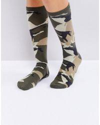 Weekday - Camo Print Socks - Lyst