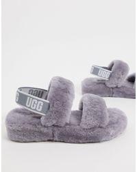 UGG Сандалии С Двумя Ремешками И Логотипом Oh Yeah-серый - Многоцветный