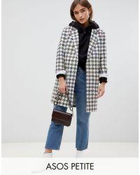 ASOS Зауженное Пальто Из Ткани Букле - Многоцветный