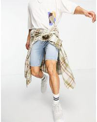 ASOS Skinny Denim Shorts - Blue