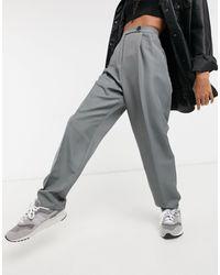 ASOS - Pantalones dad holgados grises - Lyst
