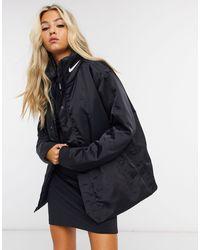 Nike Черное Пальто С Логотипом Premium-черный